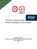 Tutorial Penggunaan Aplikasi Video Conference WEBEx