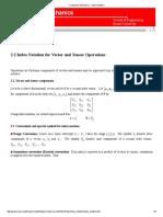 Continuum Mechanics - Index Notation