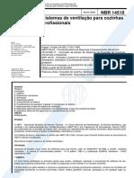 NBR 14518 - Sistemas de ventilação para cozinhas profissionais.pdf