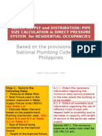 Pipe Size Calculation-residential