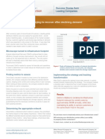 Insights to Action - Reducing infrastructure costs to maintain profitability in a declining market