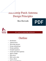 PPT Presentation -- Microstrip Patch Antenna Design Principles by Ben Horwath