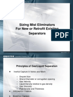 7. Sizing Mist Eliminators for New and Retrofit Existing Separators