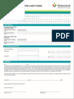 InterBank Transfer Limit Form Corporate