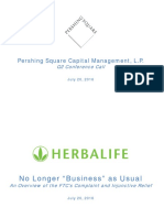 Pershing Square Capital Management L P Q2 Conference Call Presentation