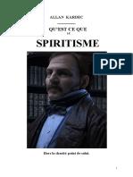 Kardec Allan Qu'Est-ce Que Le Spiritisme Mjys