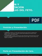 POSICIÓN Y PRESENTACIÓN ANÓMALAS DEL FETO.pptx