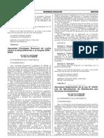 Reglamento de la Ley N° 30215 Ley dde Mecanismos de retribucion por servicios ecosistemicos