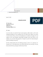 Demand Letter Sample