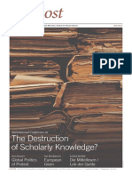 The Destruction of Scholarly Knowledge