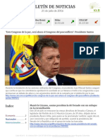Boletín de noticias KLR 21 de julio de 2016