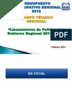 2. Lineamientos de Política 2011-2014