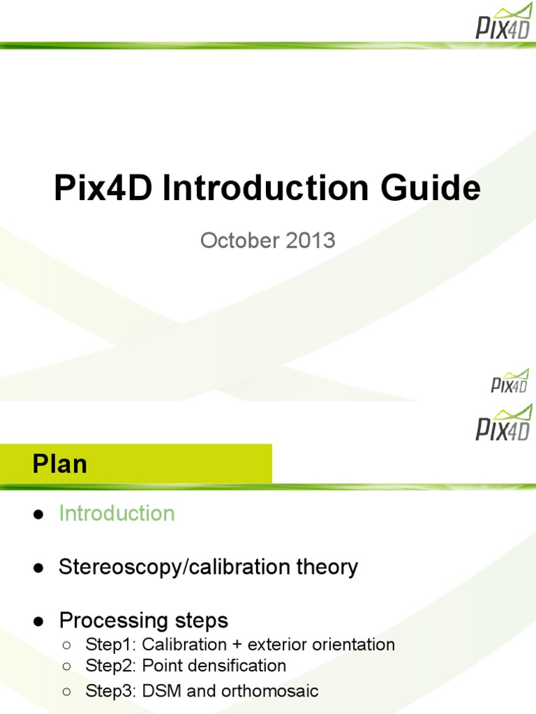 Pix4D Introduction Guide | Stereoscopy | 2 D Computer Graphics