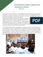 Día Internacional de Las Naciones Unidas en Apoyo de Las Víctimas de La Tortura