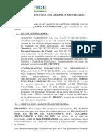 Contrato de Mutuo Con Garantia Hipotecaria COFIDE