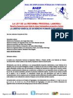 Traileros-Anep pliego de peticiones entregadas al Gobierno de la República