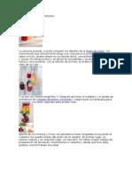 Los Jarabes de Frutas Simples