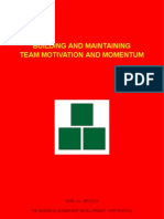 Building and Maintaining Team Motivation and Momentum