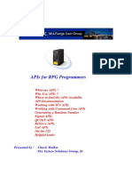 APIs for RPG Programmers