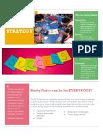 sticky note strategy fact sheet