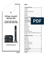 CPO-N 1-3KR Rack Tower User Manual
