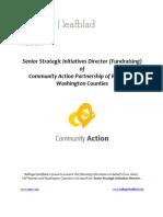 CAPRW Senior Strategic Initiatives Director Position Profile