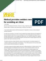 Method Provides Welders New Technique for Avoiding Arc Blow - Oil & Gas Journal