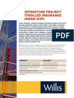 Construction Project Controlled Insurance Program CIP Flyer