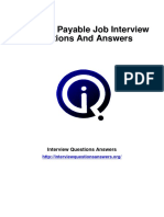Accounts Payable Interview Questions Answers Guide