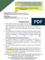 Campeonato Brasileiro de PARA-KARATE - Informações PcD (São Paulo-SP)