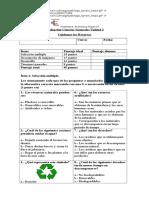 Evaluación Ciencias Naturales Unidad 2