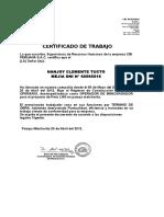 Certificado de Trabaj4