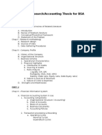 Thesis Format for BSA and ACTech