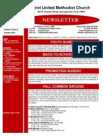Newsletter for Summer 2016