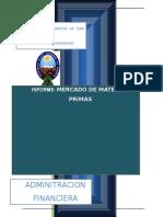 Informe Materia Prima