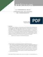 Mena, P.  La Vehemencia de Si. Elementos Para Una Filosofia Del Consentimiento (2014)