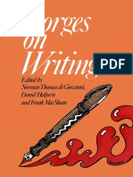 [Borges on Writing Fiction and Poetry