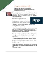 Cómo Crear Picos Altos y Bajos en El Discurso Político