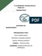 Sistema Inventario