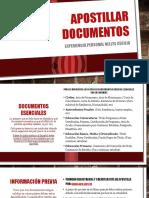 Apostillar Documentos Infografía Personal
