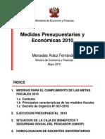 EXPOSICIÓN MEF Medidas Presupuestarias y Eonomicas 2010
