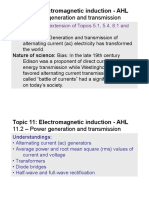 Topic 11.2 - Power Generation and Transmission - AHL