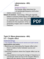 Topic 9.5 - Doppler Effect - AHL