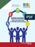Agenda Nacional para la inclusión plena de Personas con Discapacidad