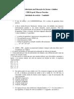 Atividade de revisão - 4° Etapa - CREJA - 2016