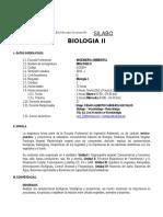 Silabo de Biologia II - 2015 - i