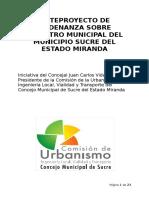 Ordenanza Catastro Municipal Consulta