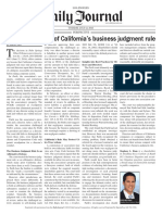 A Cautionary Tale of California's Business Judgment Rule.pdf