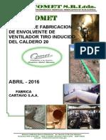 INFORME DE SERVICIO DE FABRICACION DE ENVOLVENTE DE VENTILADOR FABRICA DE CARTAVIO S.A 2 FINAL.doc