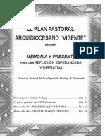 Memoria y Presente Del Plan Pastoral